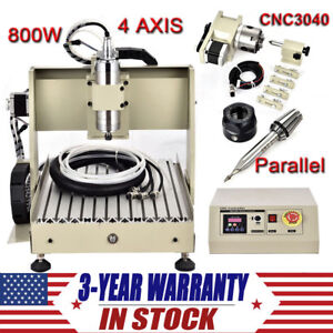 4 Axis 800w 3040 Cnc Router 3d Engraver Kit Engraving Drilling Milling Machine