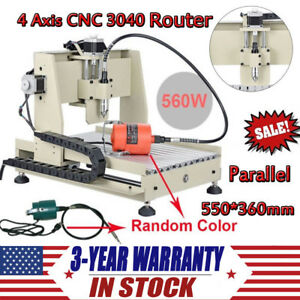 4 Axis Cnc 3040 Router Engraver Kit 560w Diy Engraving Drilling Milling Machine