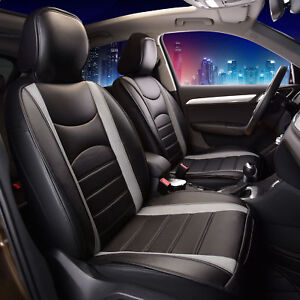 Neoblen Leatheretter Front Seat Cushions For Auto Car Suv Truck Black Gray