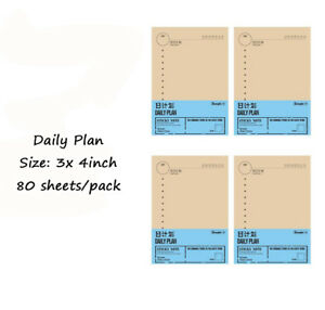 Brown Paper Sticky Note Inner Pages Daily Planner Filler Paper With Paper Clip