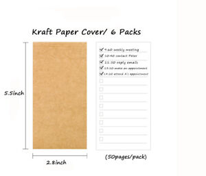 To Do List Notebooks Inner Pages Daily Planner Filler Paper For Daily Planing X6