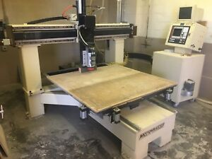 3 axis Motionmaster Cnc Router With 5x5 Table And 9hp Hsd Spindle