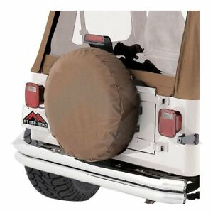 Fits Jeep Cj Wrangler With 33 Inch To 35 Inch Tires Spice tan Spare Tire Cover