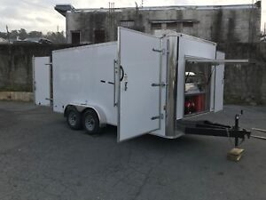 Hot Water Pressure Washer Enclosed Trailer Mounted 8gpm 3200psi honda Gx630