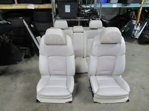 Seat Seats Comfort Active Heated Lumbar Oyster Nappa Leather Oem Bmw F01 F02 750