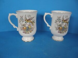 Lot Of 2 Crown Staffordshire Fine Bone China England Cup Floral
