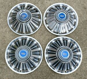 1967 67 Ford Fairlane Galaxie 14 Hubcaps Wheel Covers Center Caps Vintage
