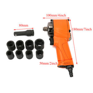 Pneumatic Air Impact Wrench 1 2 Square Drive Kit For Car Auto Repair Tool New