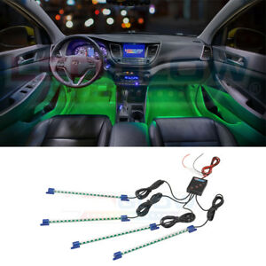4x9 Ultra Bright Ledglow Green Led Accent Light Bars Interior Neon Lighting Kit