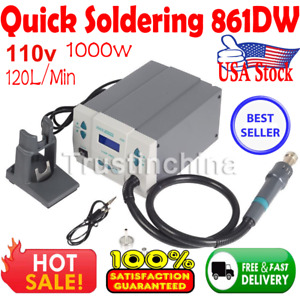 Quick Soldering 861dw 1000w Digital Rework Station Hot Air 110v Fast Shipping Us