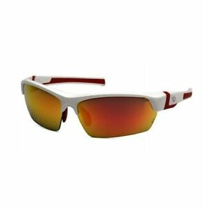 Venture Gear Safety Glasses Tensaw Red Mirror Polarized Lens With White And R