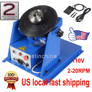 3 Jaw Lathe Chuck 2 20rpm Rotary Welding Welder Positioner 10kg Turntable Table