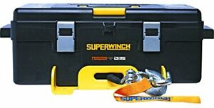 Superwinch 1140232 Winch 2 Go 12v 4000sr Portable Winch System 4000lb With Synt