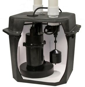 Sump Pump Pre plumbed Sink Tray System 0 25 Hp W Check Valve And 6 Gal Basin