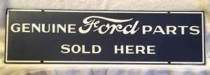 Ford Parts Sold Here Porcelain Garage Tools Tire Gas Oil Man Cave Decor