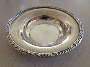 Vintage Silver Candy Bowl Dish Marked Poole American E P N S 6003