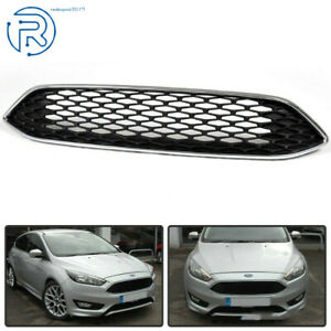 New F1ez8200b Chrome Trim With Black Mesh Grille For 2015 2016 Ford Focus S Se