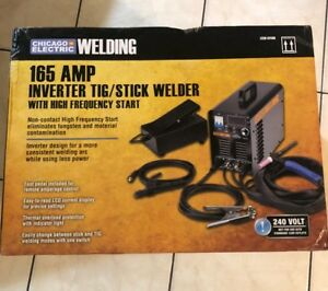 Chicago Electric 240 Volt Inverter Arc tig Welder With Digital Readout