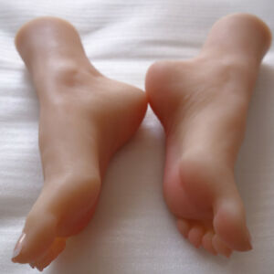 Full Silicone Female Foot Mannequin Model Shoes Display Size 36c A590