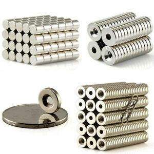 1 500pcs Rare Earth Fridge Magnet Round Disc Cylinder Ring Neodymium Wholesale