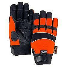 Majestic Glove 2145hoh Armor Skin water Proof size Large 10 Black orange 12 Pack