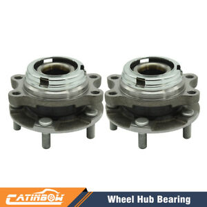 Pair Front Wheel Bearing Hub Assembly For Nissan Quest Murano 2003 2009 V6 Gas
