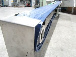 Electric Power Slider Bed Belted Conveyor Dim L82in x W5 x H17 Usted Tested