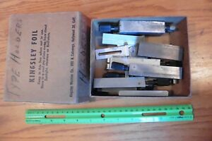 Type Holders Kingsley Lot Of Parts Triple Line Vintage Hot Foil Stamping Machine