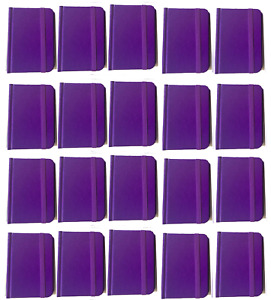 Bulk Lot 20 Small Purple Hardcover Pocket Notebook Journals 96 Pages 4 5x3 Ruled