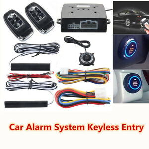 Intelligent Pke Car Alarm System Passive Keyless Entry Remote Push Button