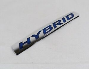 Honda Civic Hybrid Emblem 13 15 Back Trunk Oem Chrome Badge Sign Symbol Logo