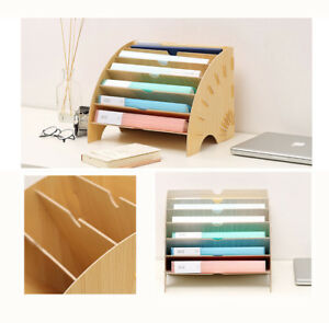 Diy Wood Desk Organizer Printer Stand Office Supply Storage Holder