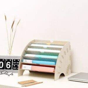 Diy Office Storage Organizer Shelves Desk Cabinet Holders Paper File Box White