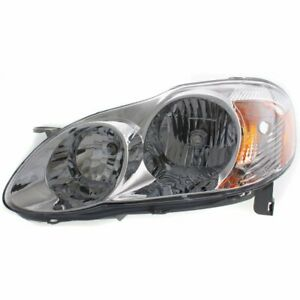 Headlight For 2003 2004 Toyota Corolla Left Clear Lens Halogen Ce Le Models