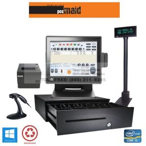 Pos Maid For Retail Stores All in one Station Complete Bundle 8gb I5 Cpu Ssd Hdd