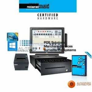 Maid Pos Restaurant Bar Bakery Complete Pos System 1 Station Hp All in one Fast