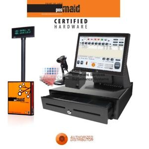 Smoke Shop Pos Complete System W retail Maid Pos Software 4gb Ram Ssd Hd