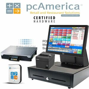 Pcamerica Pos System Rpe Pro All in one Frozen Yogurt Elo 15e3 Complete New