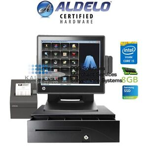 Aldelo Pro Steakhouse Restaurant Package Hp All in one Pos System I5 8gm Ram