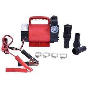 Electric Portable 12v 10 Gpm Diesel Oil Fuel Transfer Extractor Pump Motor Tool
