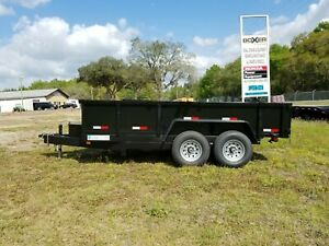 New 7 x16 Dump Trailer 14k Tandem In Stock 7x16 7x14 6x12 5x10 See Prices