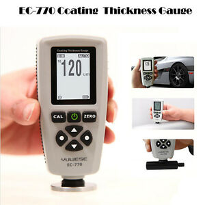 Car Paint Film Thickness Tester Digital Coating Ec 770 Thickness Probe Test