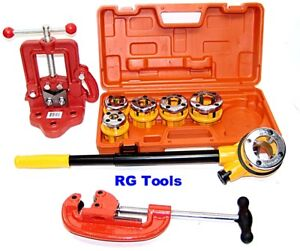 Pipe Threader Ratchet Type With 6 Dies Pipe Cutter 2 Clamp On Pipe Vise 1
