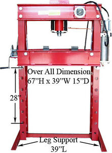 Heavy Duty 45 Ton Air Hydraulic Floor Shop Press Air Pump