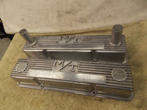 Mickey Thompson Valve Covers M t Small Block Chevy Sbc Circle Track Race Alum