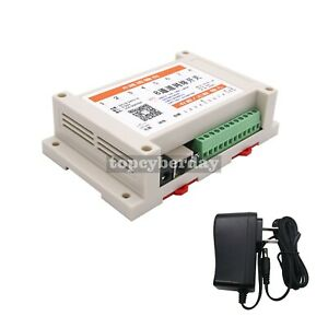 8in 8out Network Relay Controller Web Tcp Udp Offline Timer Mqtt Android App P2p