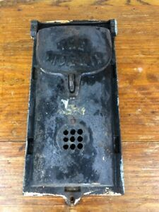Antique Mission Arts And Crafts Stickley Roycroft Era Hanging Iron Mailbox