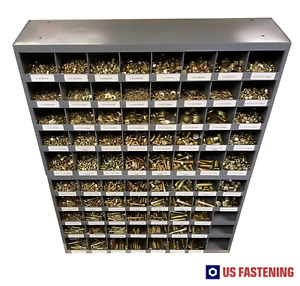 5135 Piece Grade 8 Bolt Nut And Washer Assortment With Two 40 Hole Bins