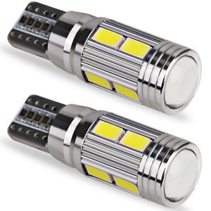 2x 501 194 6000k W5w 5630 T10 Led 10 Smd Car Canbus Error Free Wedge Light Bulbs