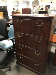 4 Drawer Lateral Size File Cabinet By Kimball Office Furniture In Cherry Wood